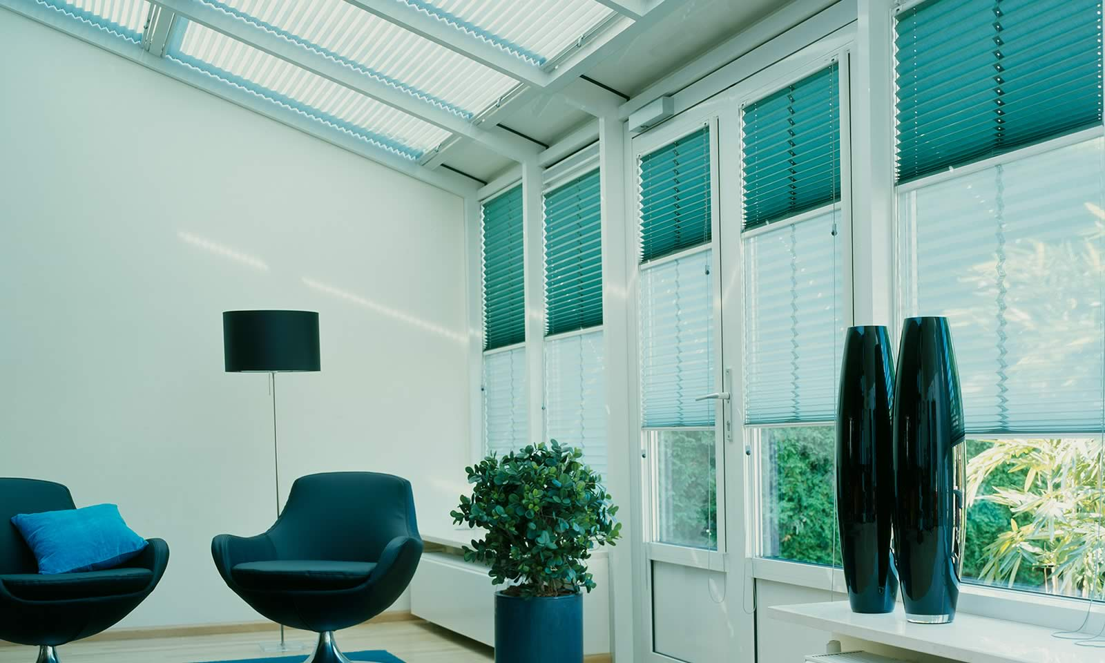 Conservatory Pleated Blind